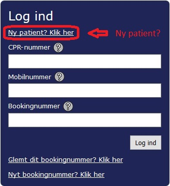Online Booking Tandlæge Ny Patient
